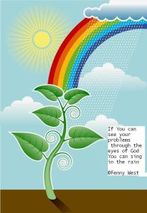 rainbow of his promise