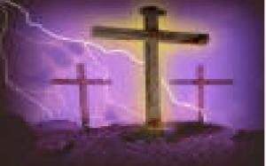 Christ  three crosses