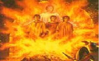 fiery furnace Hebrew three 4