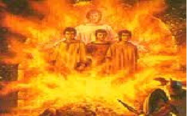 fiery furnace Hebrew three 4