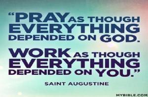 praying and working