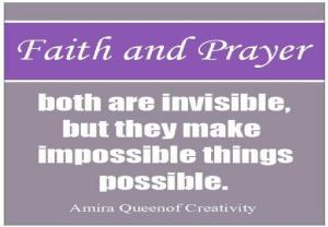 faith & prayer