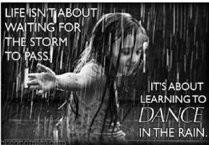 dancing in the rain