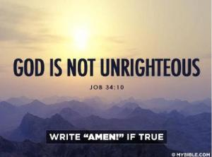 God is righteous