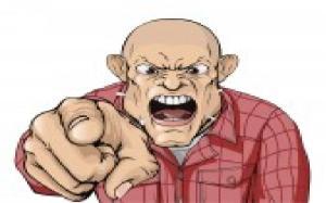 pointing finger  anger
