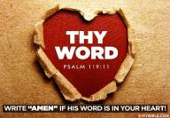 word of God 2 ps119 11