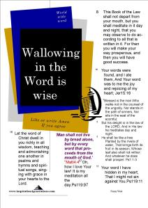 wallowing in the word