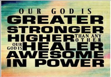 god greater stronger