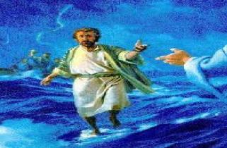 peter walking on water