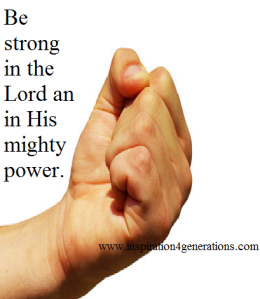 be strong in the Lord1