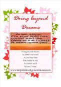 doing beyond dreams