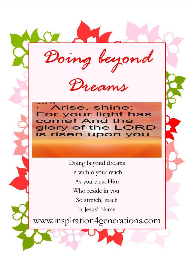 doing beyond dreams