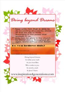 doing beyond dreams2