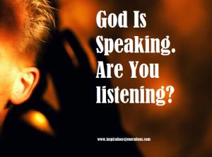 God is speaking ru listening1
