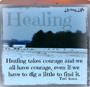 healing takes courage