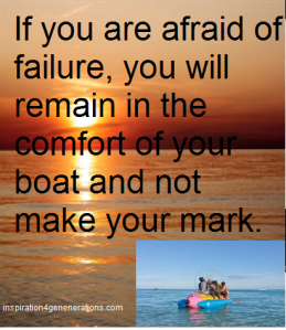 if you are afraid