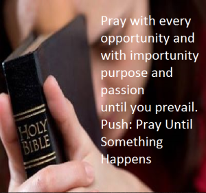 pray with importunity