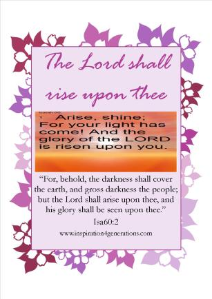 the Lord shall rise1
