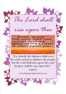 the Lord shall rise2