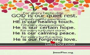 God is our quiet rest