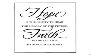 why worry  hope