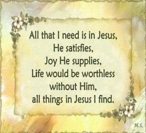 Jesus  all I need