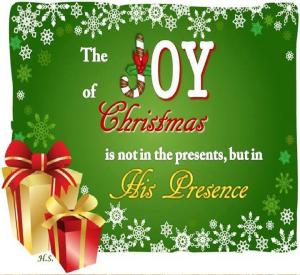 Jesus His birth His presence