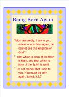 Being Born Again scriptures
