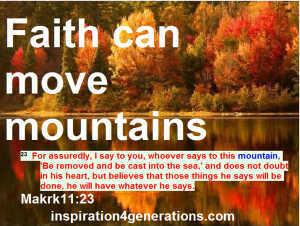 faith can move mts