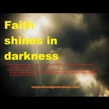 faith shines in darkness