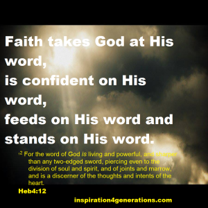 faith takes God at His word