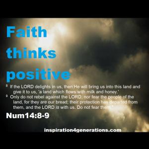 faith thinks positive