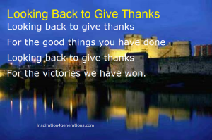 looking back to give thanks1