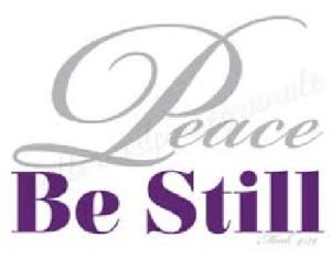 peace be stlll