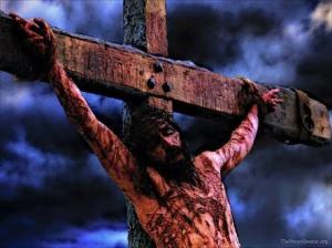 King on the cruel cross