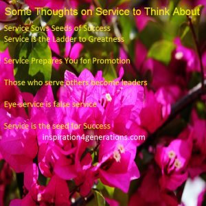 service thoughts