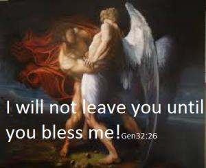jacob wrstles with an angel