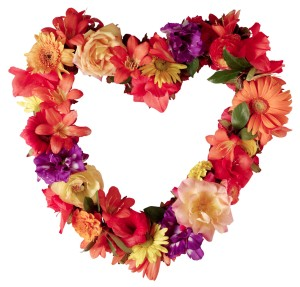 Autumn Floral Heart --- Image by © Royalty-Free/Corbis
