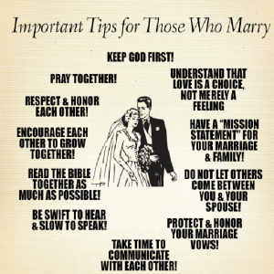 Marriage dos