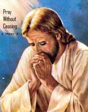 Jesus and praying]