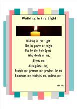 walking in the lighta