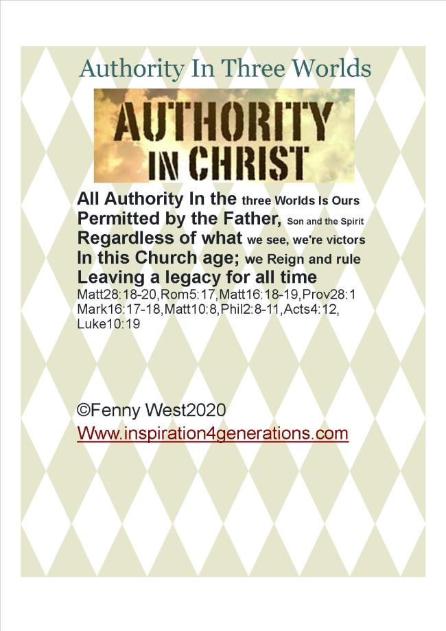 april Authority in thre worlds