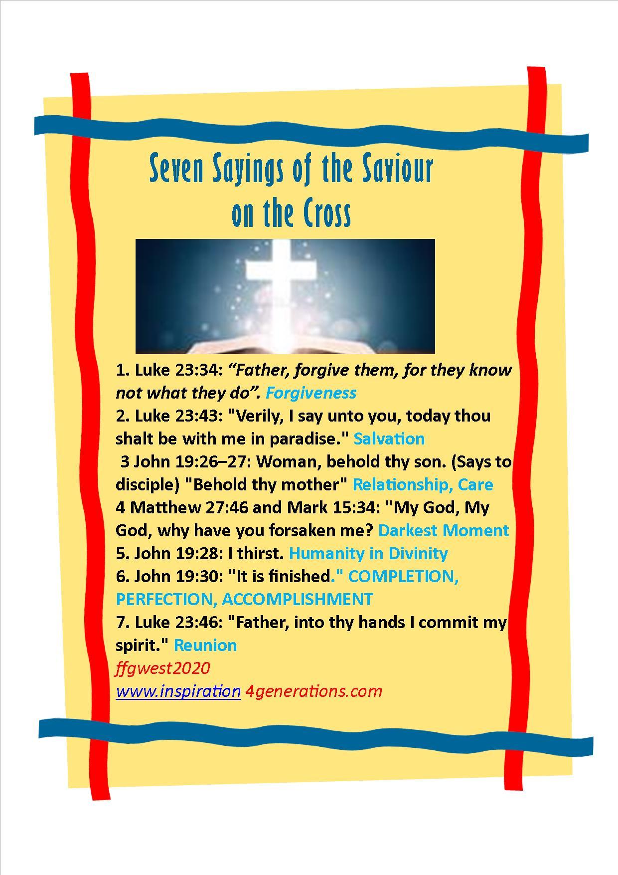 seven sayings