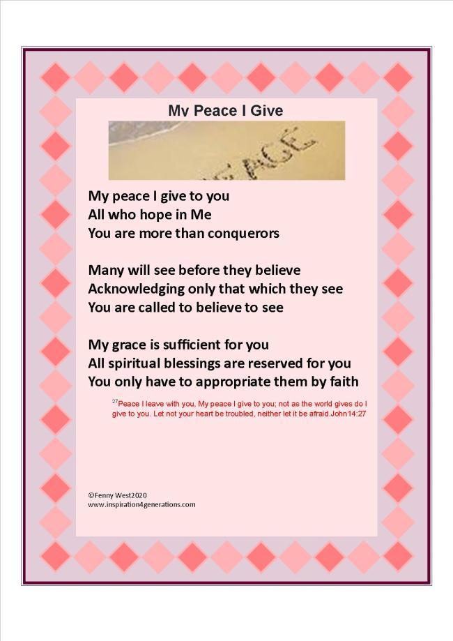 May My peace I give